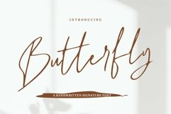 Web Font Butterfly - A Handwritten Signature Font Product Image 1