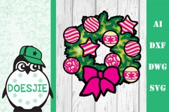 Christmas bundle 5 designs 3d layered mandala zentangle svg Product Image 6