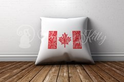 Canada flag zentangle, Canadian, maple leaf, Canada Day Product Image 8