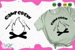 Camp crew, summer Svg Files for Crafters Product Image 1