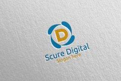 Secure Digital Letter D Digital Marketing Logo 80 Product Image 1