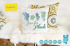 Love for plants svg, Gardening Vector Cut File, plant svg Product Image 4