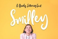 Web Font Smilley - Quirky Lettering Font Product Image 1