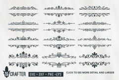decorative floral swirl split baner svg bundle Product Image 1