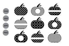 Thanksgiving Pumpkin Monogram SVG, Thanksgiving svg Polka. Product Image 2
