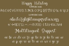 Happy Holiday - A Modern Calligraphy Font Product Image 2