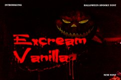 Excream Vanilla Horror Display Font Product Image 1
