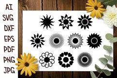 Sun SVG, Sun Silhouette SVG, Sun Clip Art, Sun Sublimation Product Image 2
