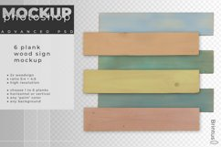 Wood sign mockup with 1 to 6 planks Product Image 3