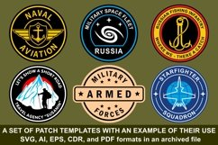 A set of patch templates with an example of their use Product Image 1