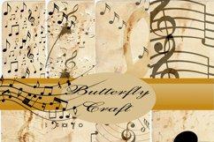 Music notes scrapbook paper, Vintage music digital paper Product Image 1
