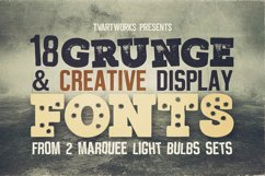 Marquee - 18 Grunge Fonts Product Image 2