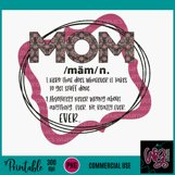 Definition of Mom Sublimation Printable Product Image 2