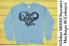 Gildan Sweatshirt Mockup 18000 Mock Up Black White Grey 938 Product Image 6