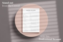 Resume and Cover Letter Template   Minimalist Resume CV Product Image 18