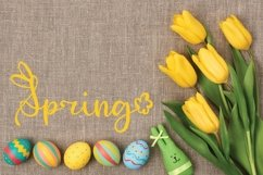 Rabbity - A Spring Font With Ears & Cotton Tails Product Image 4