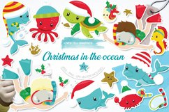 Christmas underwater graphics and illustrations Product Image 1