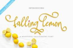Falling Lemon   Modern Calligraphy Font Product Image 1