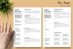 Teacher Resume CV Template for Word & Pages Lydia William Product Image 3