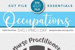 Nurse practitioner monogram svg - an NP svg for crafters Product Image 4