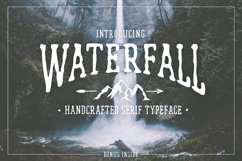 Waterfall. Handcrafted Font (+bonus) Product Image 1