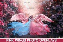 Pink Angel Wing overlay & Photoshop overlay Product Image 1