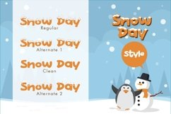 Web Font Snow Day Display Product Image 2