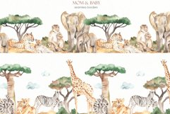 Mom and baby animals Watercolor Product Image 12