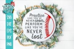 Play Like You've Never Lost Inspirational Baseball SVG DXF Product Image 1