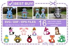 Egg holder bundle! 16 designs! Easter / Birthday / Thank you Product Image 1