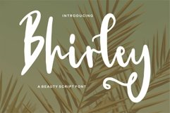 Bhirley - A Beauty Script Font Product Image 1