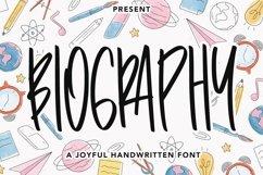 Web Font Biography - Handwritten Font Product Image 1