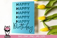 Birthday card SVG, Happy birthday card cut file Product Image 1