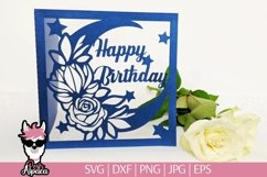 Birthday card SVG for kids, 1st birthday card cut file Product Image 2