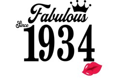 Fabulous since 1934 birthday Svg, 87 Birthday svg, 87 Birthd Product Image 2