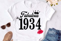Fabulous since 1934 birthday Svg, 87 Birthday svg, 87 Birthd Product Image 1