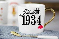 Fabulous since 1934 birthday Svg, 87 Birthday svg, 87 Birthd Product Image 3