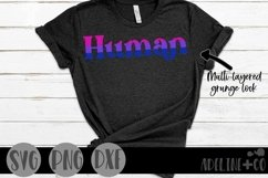 Human | Bisexual, Pride, SVG, PNG, DXF Product Image 1