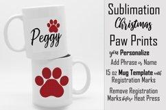 Sublimation - Christmas Paws - three 15 oz. Mug Templates Product Image 1