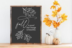 Fall Is Proof That Change Is Beautiful SVG - Autumn Design Product Image 1