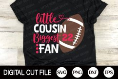 Football SVG, Little brother biggest fan SVG, Football Fan Product Image 3