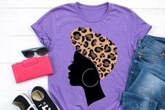 Afro Women SVG Black Woman Bundle SVG leopard Juneteenth SVG Product Image 4