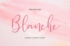 Web Font Blanche Product Image 1