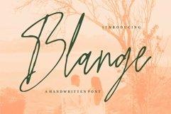 Web Font Blange - A Handwritten Font Product Image 1