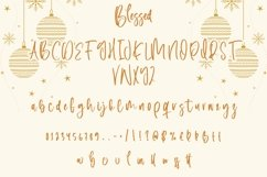 Web Font Blessed - Christmas Display Font Product Image 4