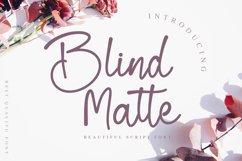 Blind Matte - Script Font Product Image 1