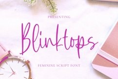 Web Font Blinktops - Script Font Product Image 1