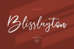 Blisslayton Script Font Product Image 1
