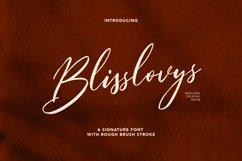 Blisslovys Signature Brush Font Product Image 1