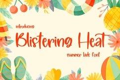 Web Font Blistering Heat - Summer Kids Font Product Image 1